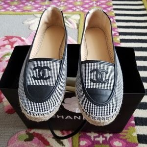 Chanel Black and White Espadrilles